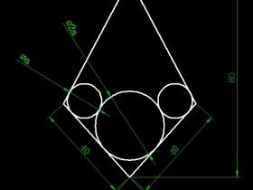 根据图示画出菱形