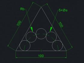 根据图形求出直径和半径