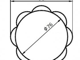 根据图例绘制花朵