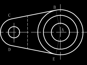 CAD如何测量圆弧和两条直线的角度