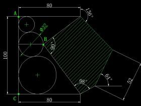 画图并求出角度和面积