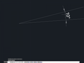 CAD角度标注怎么把角度放在角外面