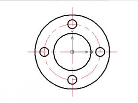 CAD圆和直线快捷键命令(绘制法兰图形)