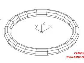 CAD绘制网格圆环体命令快捷键(教你如何绘制O型圈)