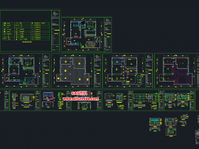 一套完整的CAD施工图图纸下载