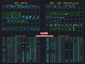 CAD室内设计五金配件图块施工图下载