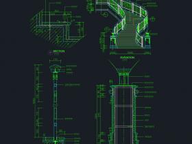 多种楼梯(带立面,剖面)CAD图纸免费下载