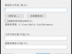 CAD如何创建指向另一个文件的绝对超链接