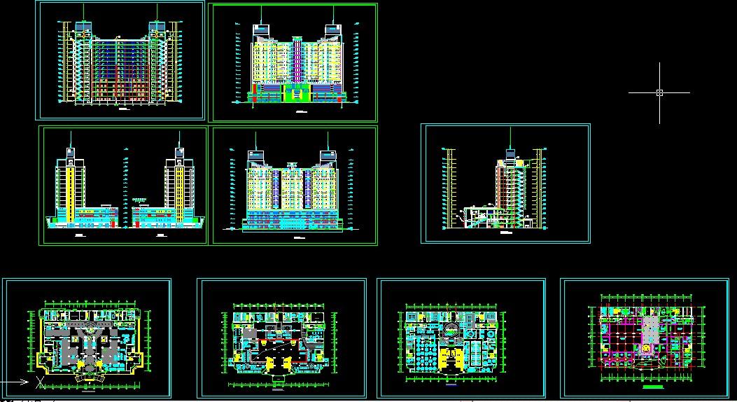 某五星级酒店建筑方案设计图纸下载