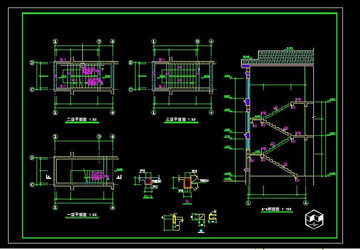 农家别墅CAD完整图纸下载