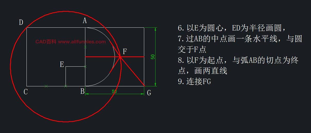 画出图形并求出A的长度