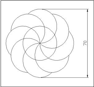 用环形阵列画圆弧