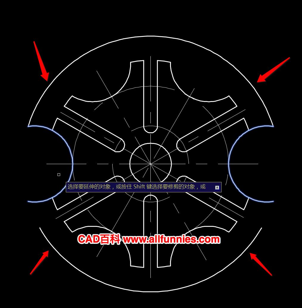 CAD延伸工具怎么用,快捷键命令是什么