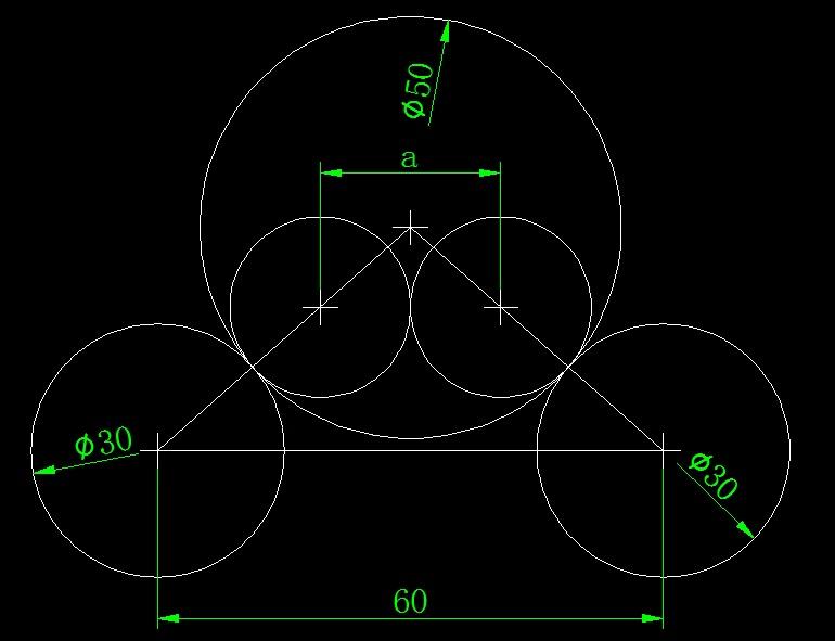 画图并求两圆心之间的距离
