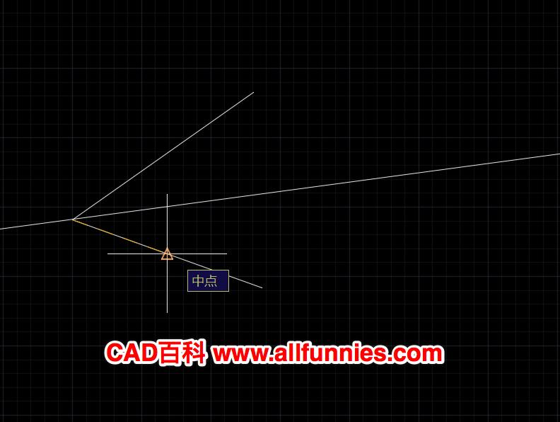 CAD如何画角平分线