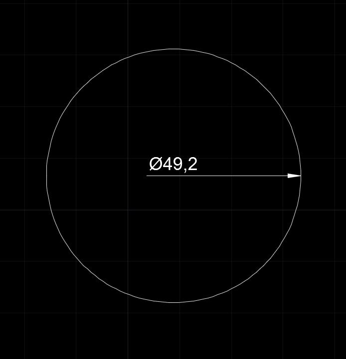 CAD直径标注为什么只有一半(单箭头)