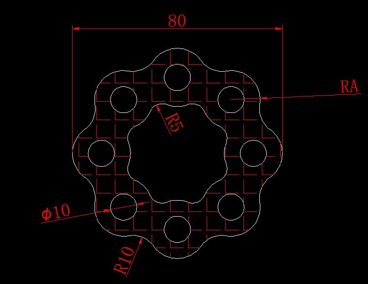 绘图并求出半径和阴影部分面积