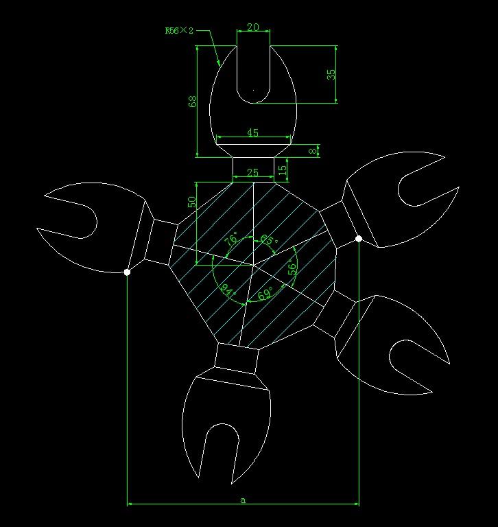 画出螃蟹钳并求出指定长度和面积