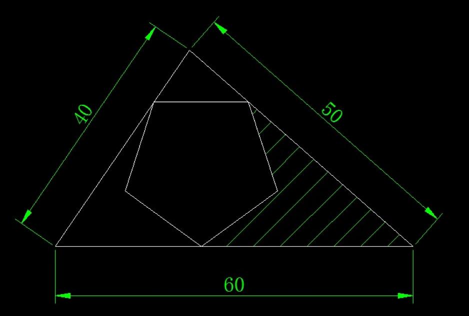 画图并求阴影面积(三角形、缩放、剪切等命令练习)
