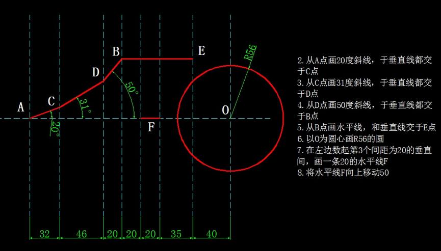 画图并求出指定长度和周长(圆、修剪、周长等命令练习)