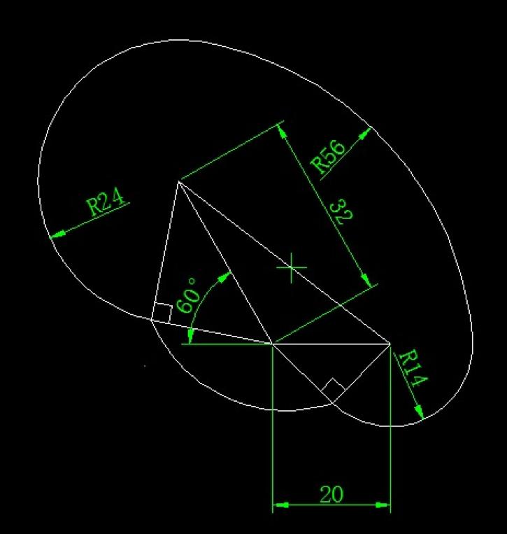 画图并求出面积(圆的画法、相切、面积求法练习)