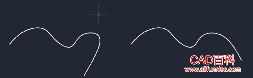 CAD样条曲线怎么编辑(使用夹点方式修改样条曲线的方法)