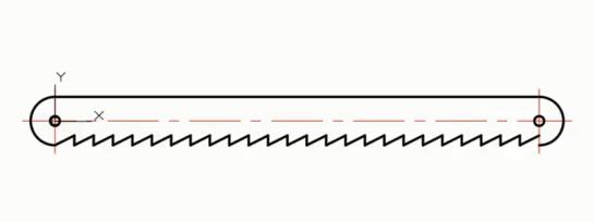 CAD定数等分快捷键命令(教你如何绘制锯条)