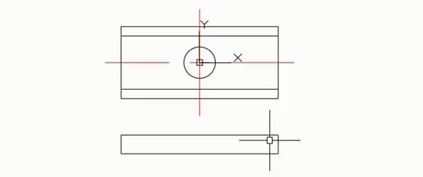 CAD精确绘制图形命令的综合演练——绘制垫块