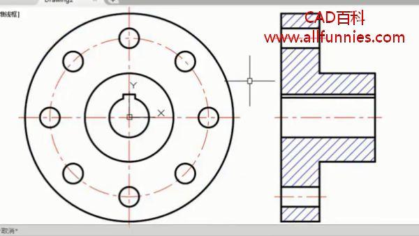 CAD高级二维绘图命令综合演练——联轴器简图怎么画