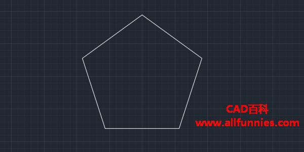 CAD正多边形命令(绘制五角星步骤)