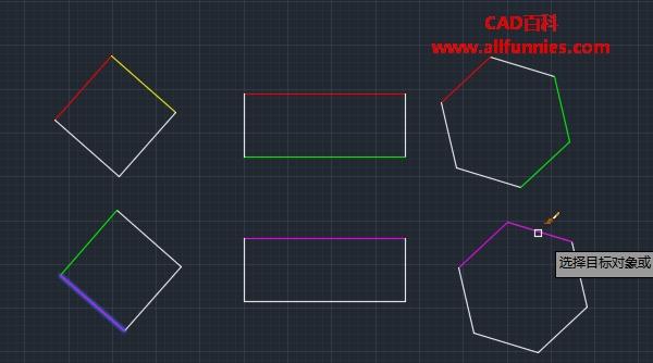 CAD快速修改多个线条颜色的方法
