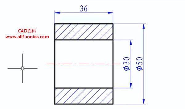 CAD线性标注快捷键命令(教你如何标注滚轮尺寸)
