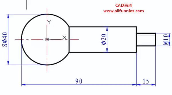 CAD连续标注快捷键命令(教你如何标注球头螺栓的尺寸)