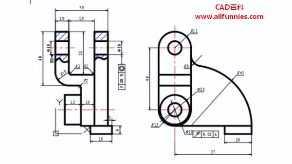 CAD几何公差标注快捷键(如何标注凸轮卡爪的尺寸)