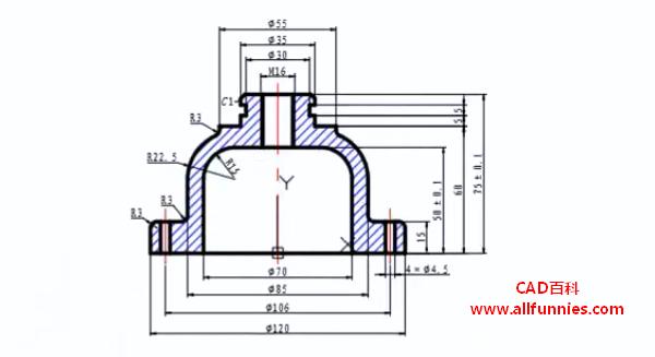 标注快捷键命令综合演练-溢流阀上盖设计(教你如何标注溢流阀上盖)