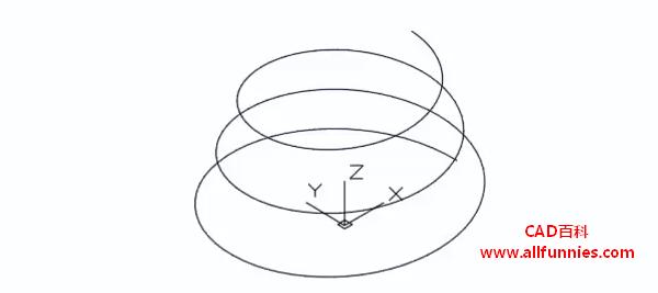 CAD螺旋线快捷键命令(教你螺旋线怎么画)