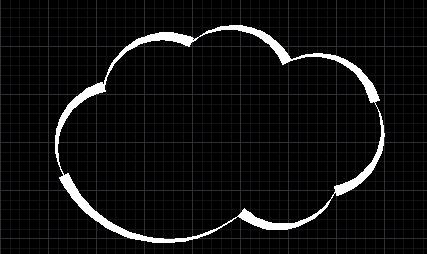 CAD怎么绘制云彩图