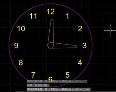 如何用CAD绘制一个时钟