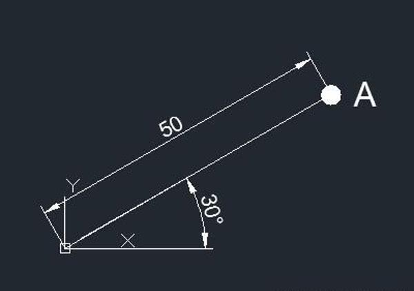 CAD极坐标怎么输入,命令是什么(绝对和相对极坐标的使用方法详解)