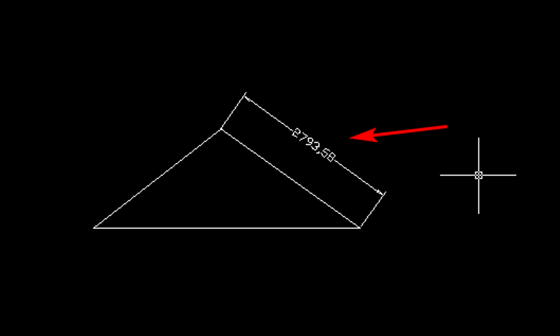 CAD怎么测量斜线长度