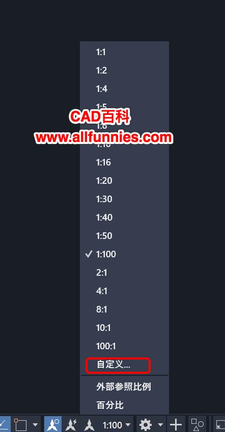 CAD绘图比例尺怎么设置,1:100是什么意思?