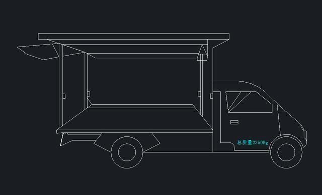 地摊经济火了,教你用CAD画五菱汽车平面图教程