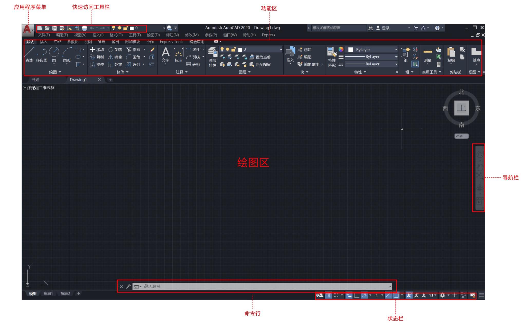 【CAD系列课程】AutoCAD工作界面介绍