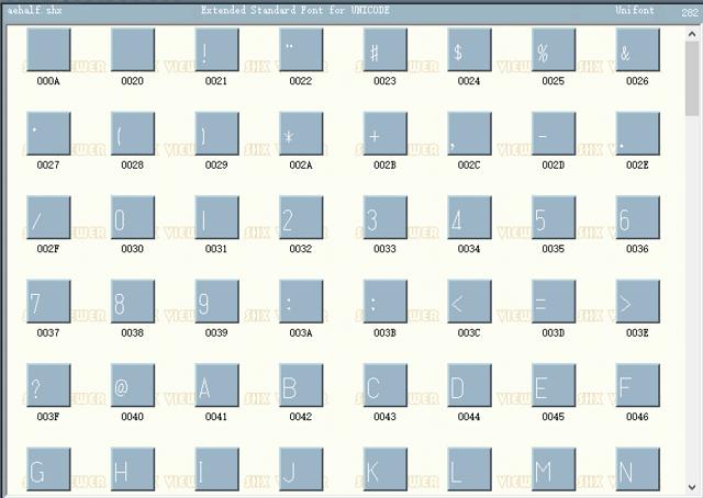 CAD字体Aehalf.shx下载