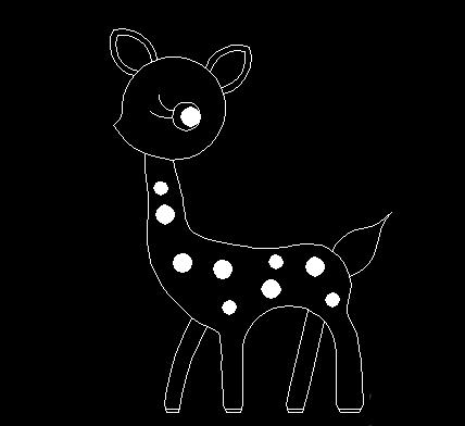 如何用中望CAD绘制简笔鹿