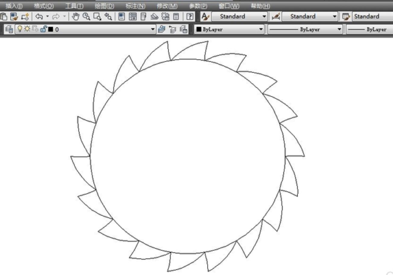 CAD棘轮零件标准图怎么画?