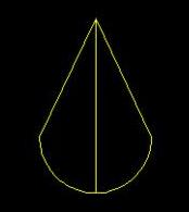 中望CAD如何让圆弧与直线相连形成设计图