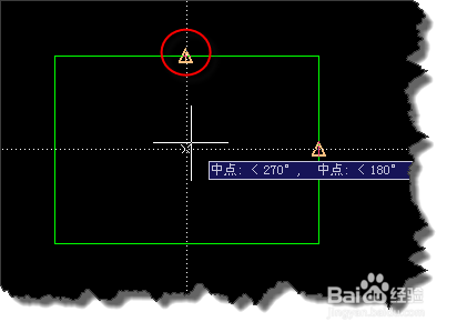 CAD如何捕捉矩形图形的中心点?