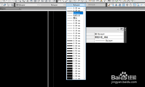 CAD已经绘制好了图形怎么更改线宽