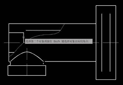 CAD如何在两个对象间建立尖角和圆角